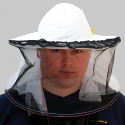 Beekeeping hat with detachable fabric net