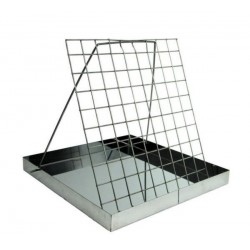 Uncapping tray, stainless (42×42×4 cm)